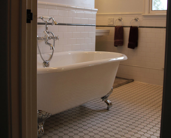A Victorian Bathroom Bay Area Classic Tile